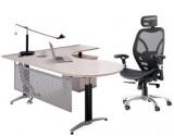 板式主管桌(枫木色MFC)1600*1600*750H
