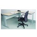 钢木职员桌(枫木色MFC) 1400(700)*1400(450)*750H 新品上架